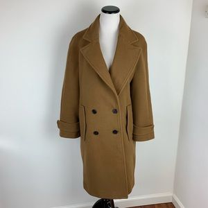 Zara Camel Brown Wool Long Coat